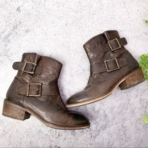 Seychelles Brown Buckle Leather Ankle Boots
